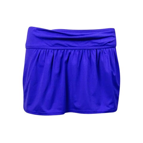 Anne Cole Women's Solid Pocket Mini Skirt Swim Cover