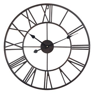 Link to The Gray Barn Distressed Roman Round Wall Clock Similar Items in Decorative Accessories