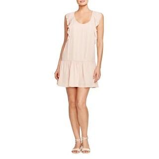 Joie Womens Casual Dress Silk Ruffle Sleeves