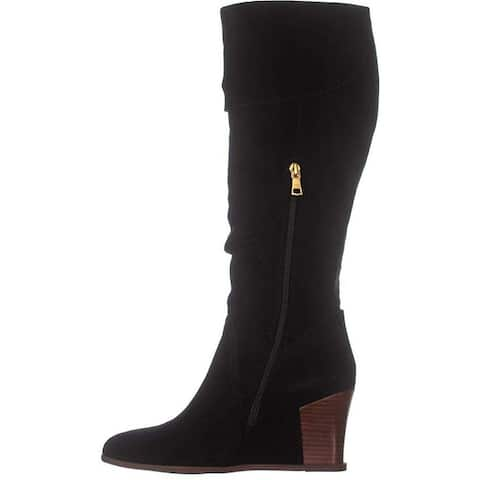 Lucca Lane Womens Zander Leather Almond Toe Over Knee Fashion Boots