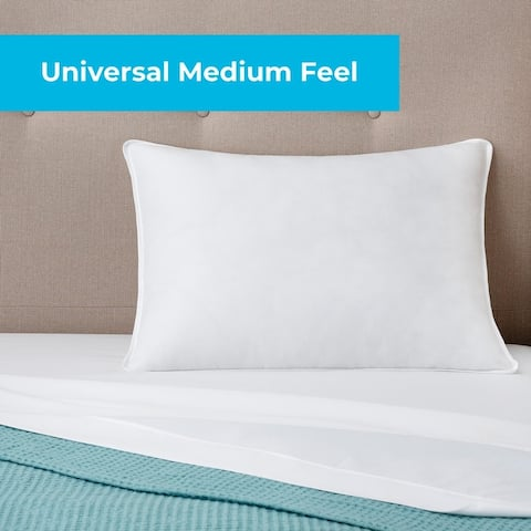 Linenspa Essentials Bed Pillow- Plush, Medium, and Firm - White