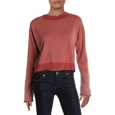 Free People Womens Look Ahead Sweatshirt Fleece Cuffed