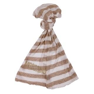DM1C4211/4 Beige/White Loose Fine Knit Scarf