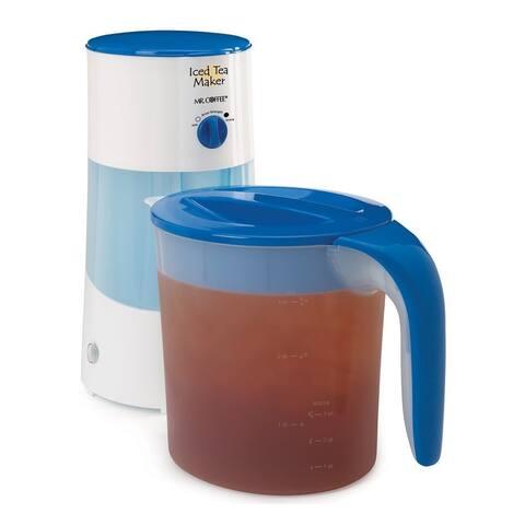 Mr. Coffee TM70 Iced Tea Maker, Blue, 3 Quarts