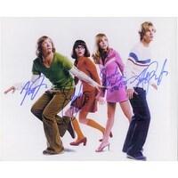 Signed ScoobyDoo 8x10 Photo By Freddie Prinze Jr Sarah Michelle Gellar Matthew Lillard Linda Cardel