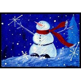 Carolines Treasures PJC1085JMAT Happy Holidays Snowman Indoor & Outdoor Mat 24 x 36 in.