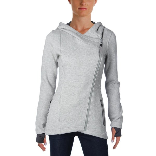 d6c53fde413ac Shop MPG Womens Pave Athletic Jacket Asymmetric Hooded - Free ...