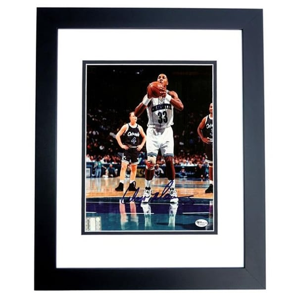 3b048fd73 Shop Alonzo Mourning Autographed Charlotte Hornets 8X10 Photo Black Custo -  Free Shipping Today - - 23717304