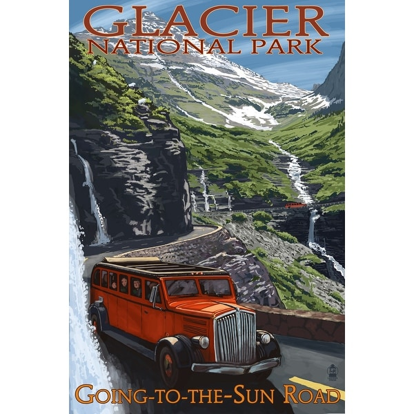 Glacier Park MT Going-To-The-Sun Road - LP Artwork (Acrylic Wall Clock)