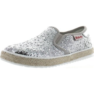 Naturino Girls 8089 Fashion Slip On Flats Shoes - Silver