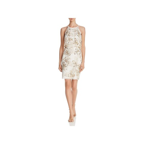 Aidan Mattox Womens Cocktail Dress Above Knee Beaded