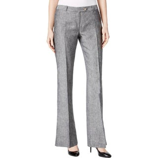 Calvin Klein Womens Dress Pants Flared Heathered