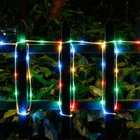 Solar Waterproof 42.6FT 100LED Rope Lights w/ 2400mah High Capacity Battery 8 model RGB