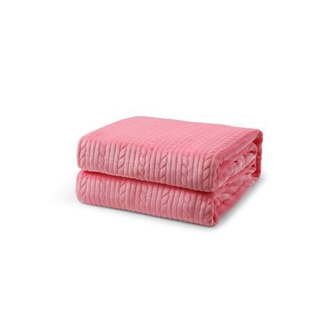 L'Baiet Embossed Throw Blanket
