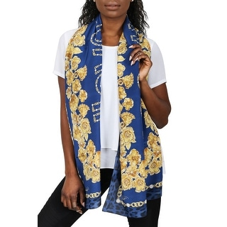 Link to Roberto Cavalli C3802C880 307 Blue Chain Scarf - 27-71 Similar Items in Scarves & Wraps