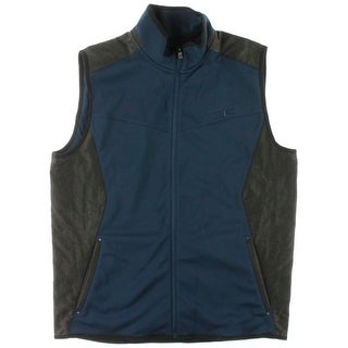 Calvin Klein Mens Fleece Lined Mixed Media Vest - XL