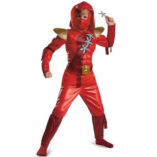 Disguise Red Fire Ninja Classic Muscle Child Costume (3 options available)