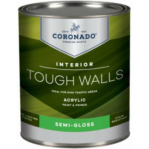 Coronado 22-32-4 Tough Walls Acrylic Interior Paint & Primer, Pastel Base, 1 Qt