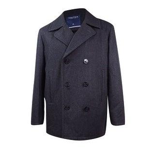 Nautica Men's Wool-Blend Pea Coat (XL, Charcoal) - XL