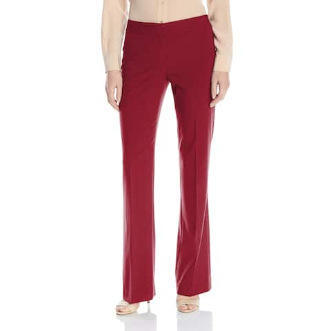 a9d18ddce3 SALE. Nine West Dark Red Womens Size 16 Wide-Leg Dress Pants Stretch
