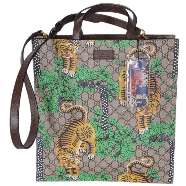 d7095c2e78a2 Gucci Women's GG Supreme Bengal Tiger Crossbody Purse Tote - Multi -