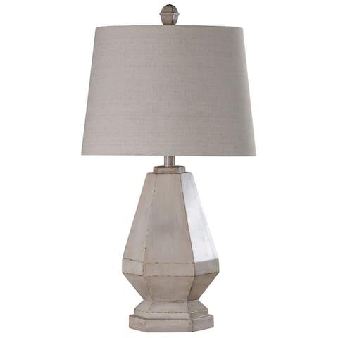 StyleCraft Storico Cream Table Lamp - Off White Shade