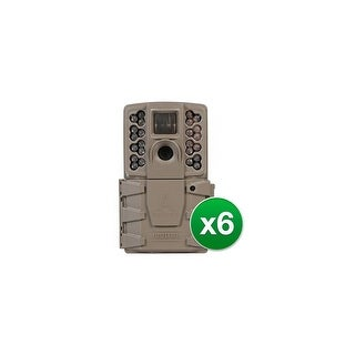 Moultrie A-30 Game Camera - MCG-13201 w/ 12 MP Resolution & 720p HD Video (6-Pack)