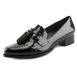 Tahari Lousia Women Pointed Toe Synthetic Black Loafer