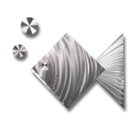 Statements2000 Tropical Metal Wall Art Silver Fish Accent Decor by Jon Allen - Island Time Silver Fish