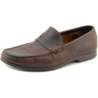 Robert Wayne Archer Men Round Toe Leather Brown Loafer