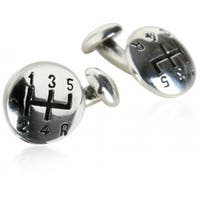 Gear Shift Driving Racing Driver Fast Manual Transmission Shifting Cufflinks In Sterling Silver