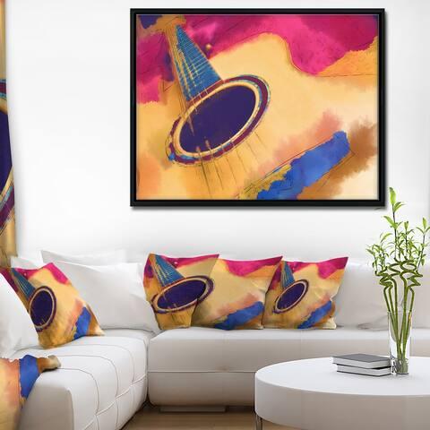 Designart 'Listen to the Colorful Music' Music Framed Canvas Art Print