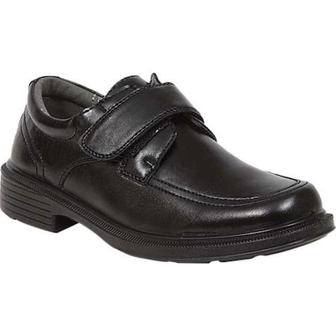 Deer Stags Boys' Ditmas Moc Toe Slip-On Black Faux Leather