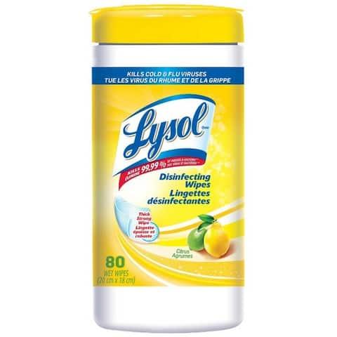 LYSOL Disinfecting Wipes, Citrus 80 ea