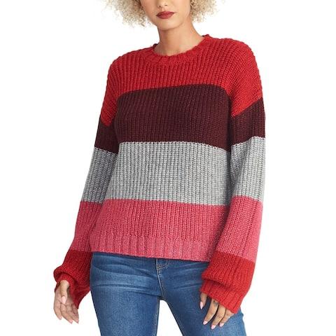 Rachel Rachel Roy Womens Gabe Sweater Striped Crewneck - Multi