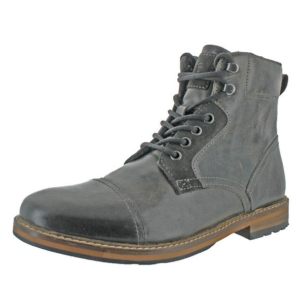 Crevo Dalston Men's Cap Toe Leather Boots