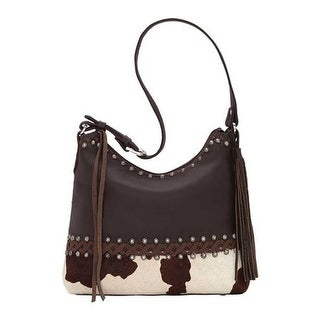 American West Women S Wild Horses Zip Top Shoulder Bag Chocolate Pony Hair Us One Size None Ping The Best Deals