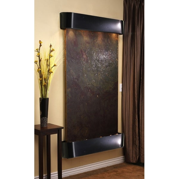 Adagio Summit Falls Fountain w/ Rajah Featherstone in Blackened Copper Finish