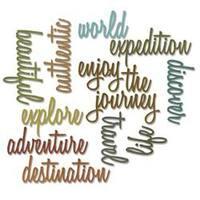 Adventure Words Script - Sizzix Thinlits Dies 13/Pkg By Tim Holtz