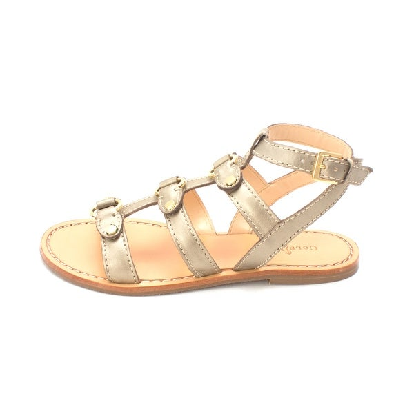 Cole Haan Womens deandra gladiator ll Open Toe Casual Slide, Gold, Size 5.0