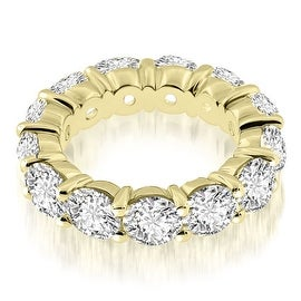 4.50 cttw. 14K Yellow Gold Classic Round Cut Diamond Eternity Band Ring