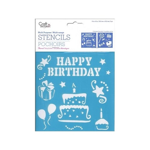 Multicraft Stencil 6x6 Birthday Treats