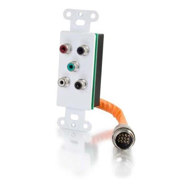 RapidRun Component Video Plus RCA Stereo Audio Wall Plate - White