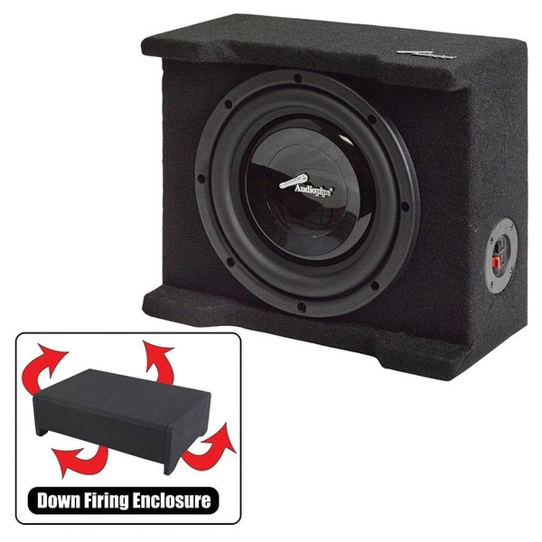 """Audiopipe Single 8"""" Shallow Downfire Sealed Enclosure With Sub"""