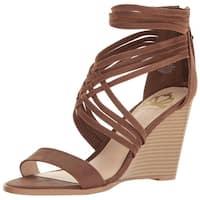 Fergalicious Womens Hunter Fabric Open Toe Casual Strappy Sandals
