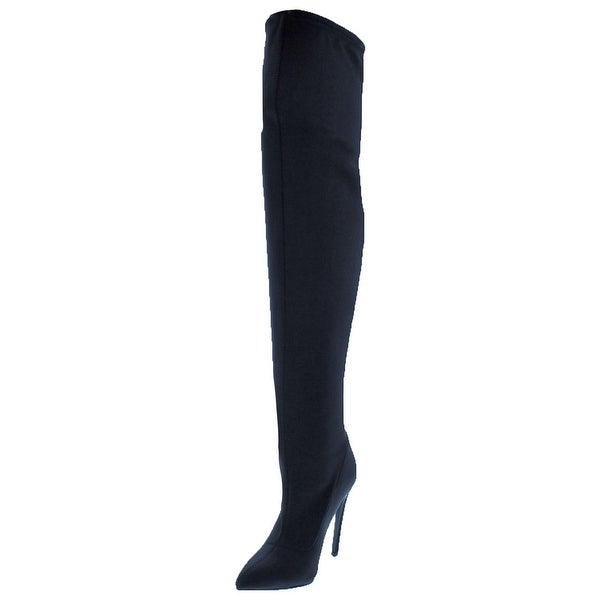 6e53e8819c3 Shop Steve Madden Womens Slammin Over-The-Knee Boots Pointed Toe ...