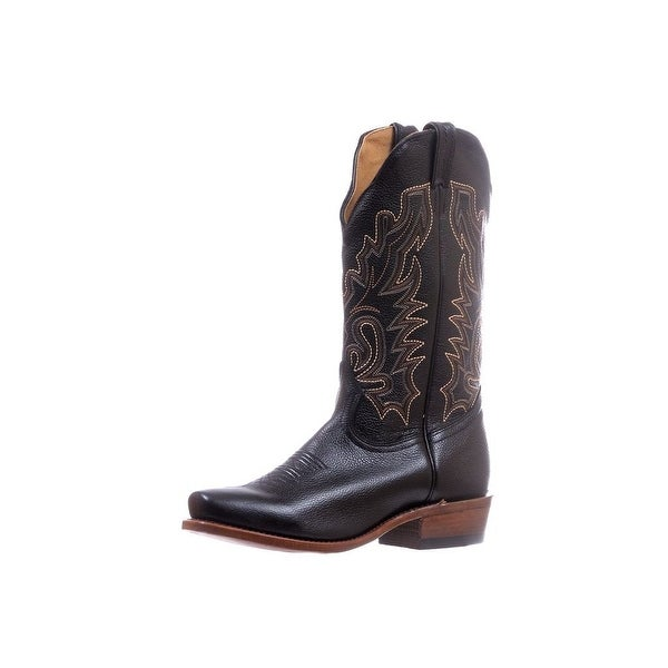 Boulet Western Boots Mens Cutter Heel Cowboy Leather Sporty Black