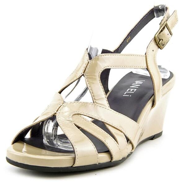 Vaneli Miriam Open Toe Synthetic Wedge Heel