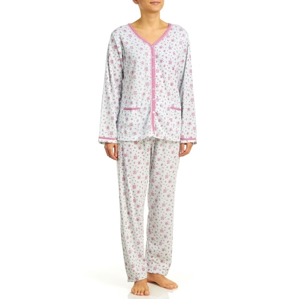 Body Touch Women's Brushed Inside Pajama Set - Plus Size