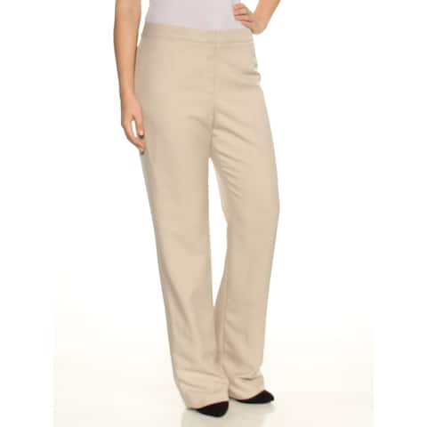 LE SUIT Womens Beige Straight leg Wear to Work Pants Size 6